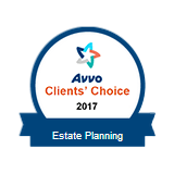 Johnson Estate Planning - Clients' Choice 2017 AVVO badge